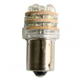 ΛΑΜΠΑΚΙ 12V, LED, T18 BA15S, cool white - 18 LEDs