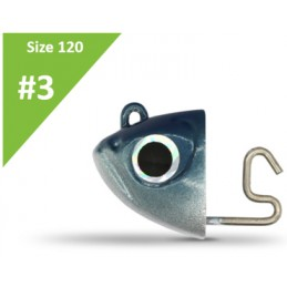 Fiiish Black Minnow  N°3 Shore Jig Heads (12g) - Blue