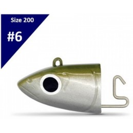 Fiiish Black Minnow  N°6 Shore Jig Heads (120g) - Kaki